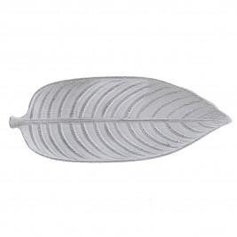 Πιατέλα Διακόσμησης InArt White Leaf 3-70-616-0006