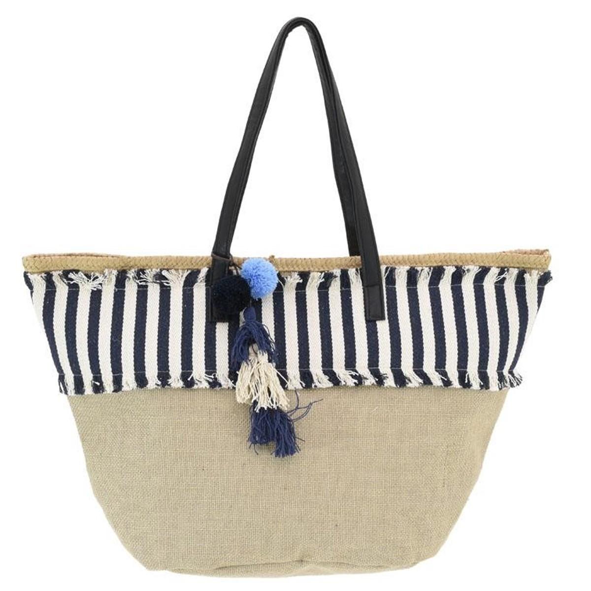 Ψάθινη Τσάντα Παραλίας InArt 5-42-367-0012