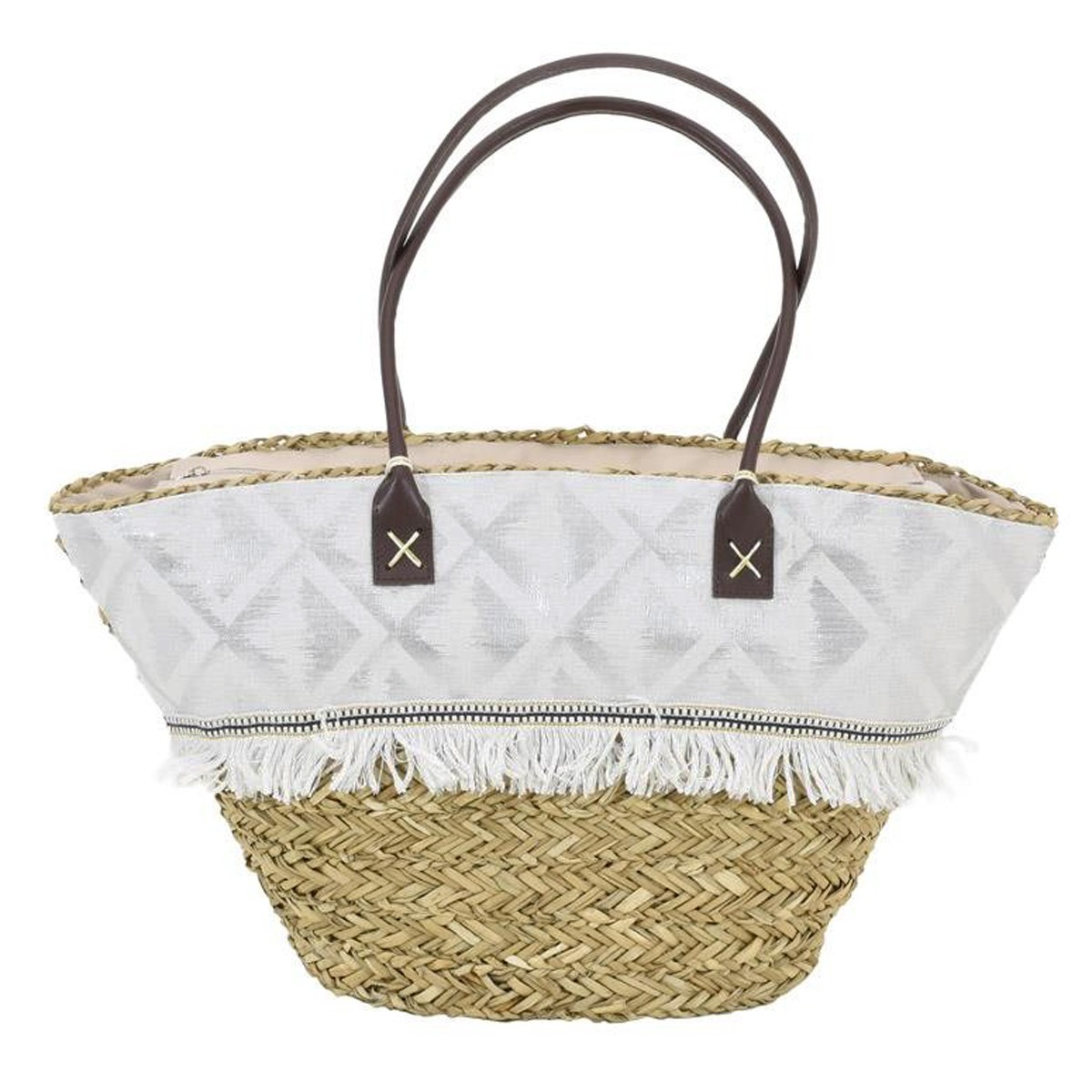 Ψάθινη Τσάντα Παραλίας InArt 5-42-367-0020 home   θαλάσσης   τσάντες παραλίας