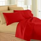 Σεντόνια Μονά (Σετ) Maison Blanche 11001 Κόκκινο/Μπεζ