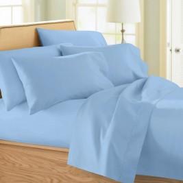 Σεντόνια Μονά (Σετ) Maison Blanche 11001 Γαλάζιο