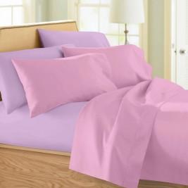 Σεντόνια Υπέρδιπλα (Σετ) Maison Blanche 11002 Ροζ/Λιλά
