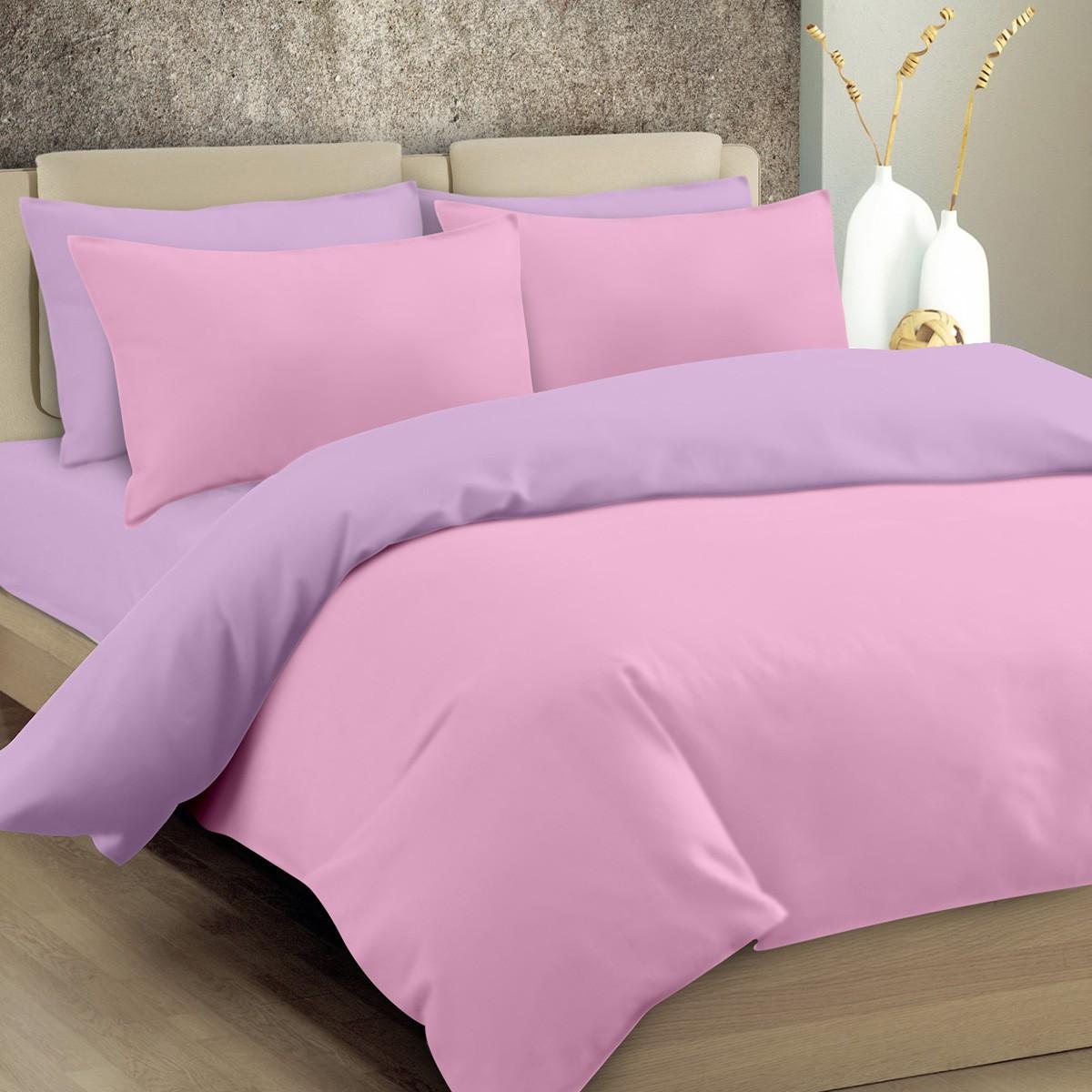 Παπλωματοθήκη Υπέρδιπλη Maison Blanche 11004 Ροζ/Λιλά