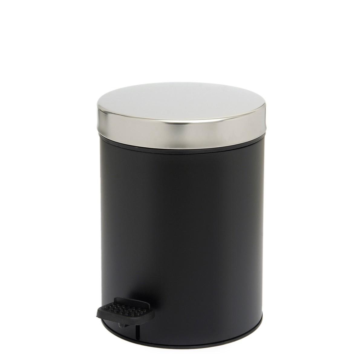 Κάδος Απορριμάτων (18x25) PamCo 3Lit 126 Black Matte home   μπάνιο   κάδοι απορριμμάτων