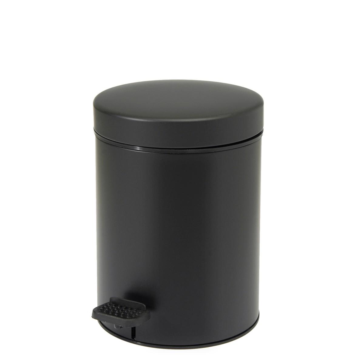 Κάδος Απορριμάτων (18×25) PamCo 3Lit 605 Black Matte 73160