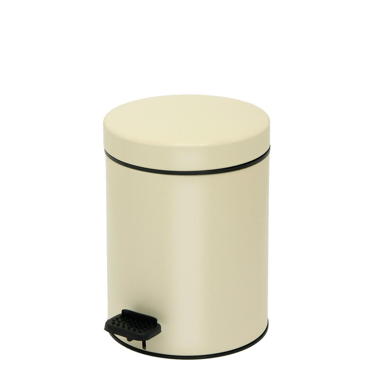 Κάδος Απορριμάτων (18x25) PamCo 3Lit 605 Ivory Matte