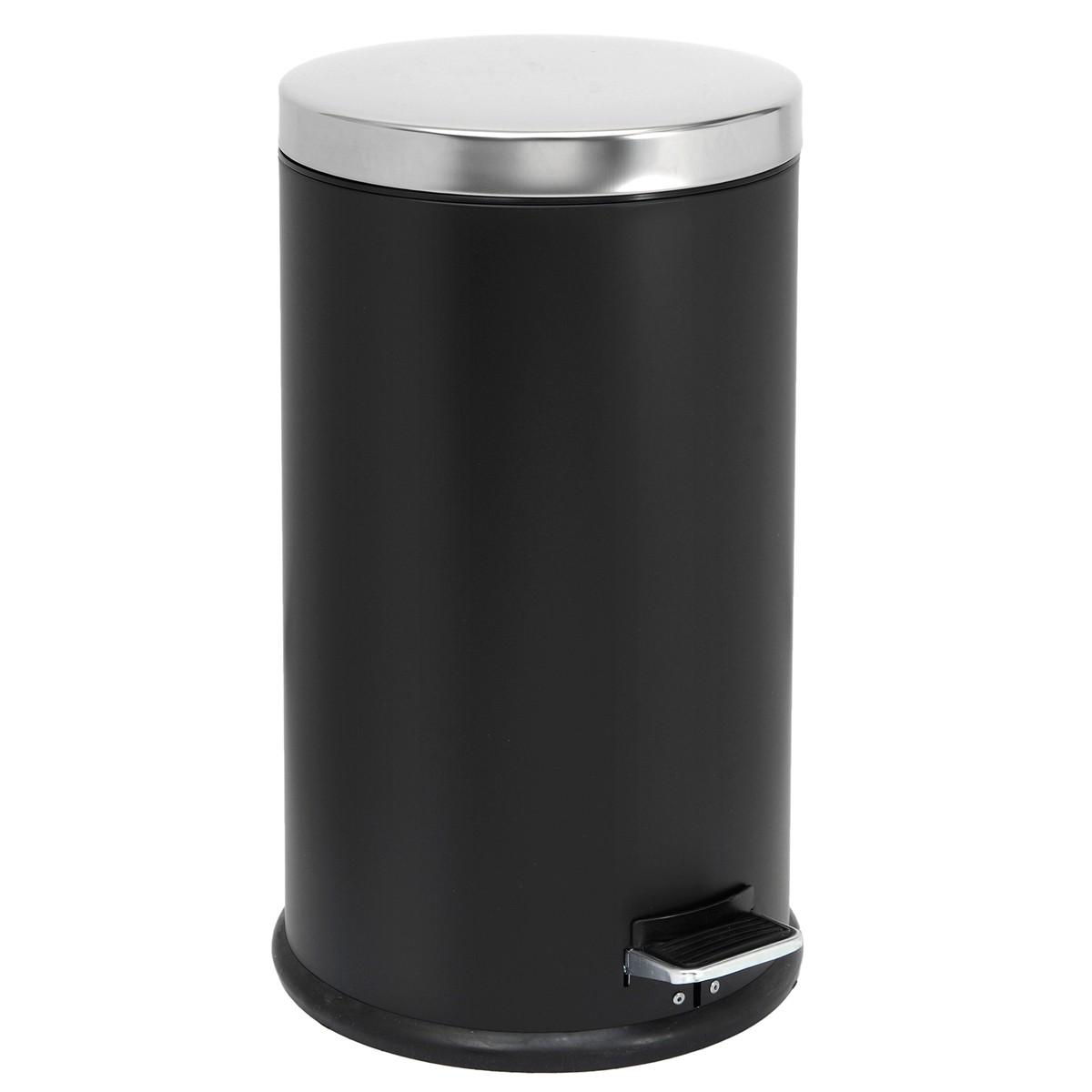 Κάδος Απορριμάτων (30×71) PamCo 40Lit 125 Black Matte