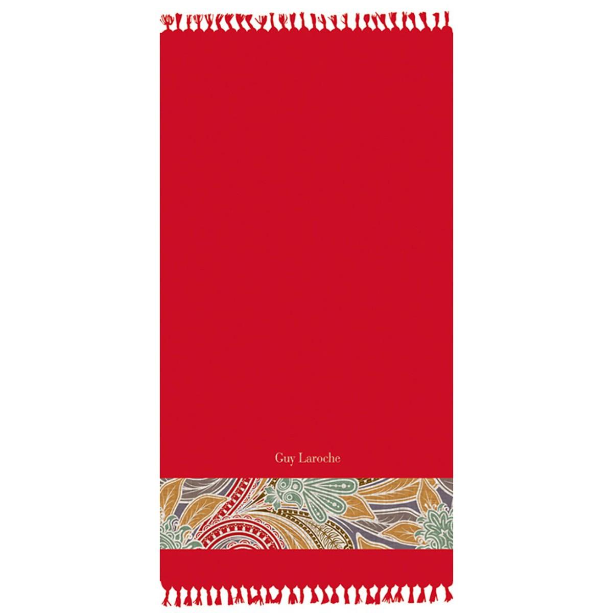 Πετσέτα Θαλάσσης - Παρεό Guy Laroche Pestemal 4 Red