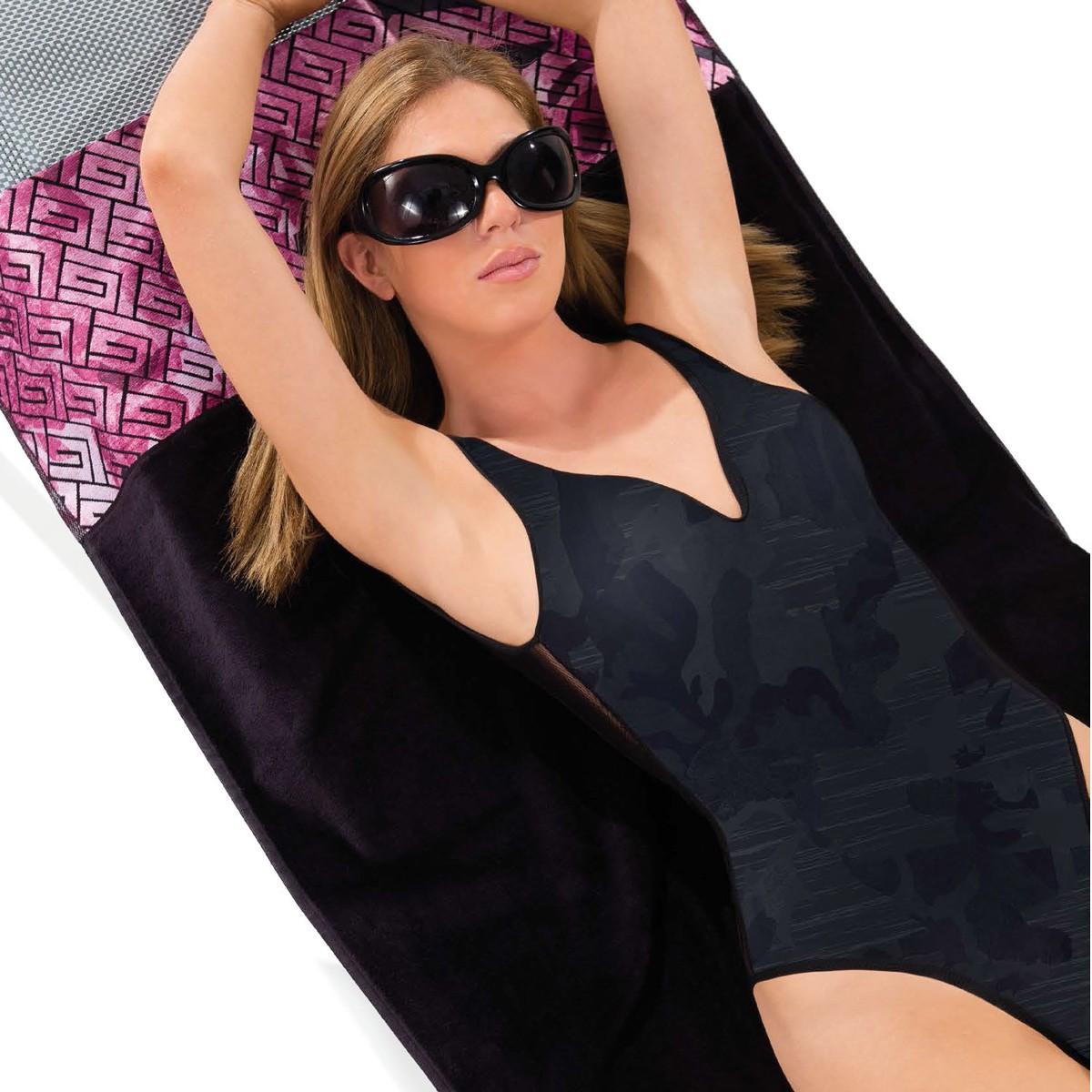 Πετσέτα Θαλάσσης Guy Laroche Jacquard Printed 3 Black/Fuchsia