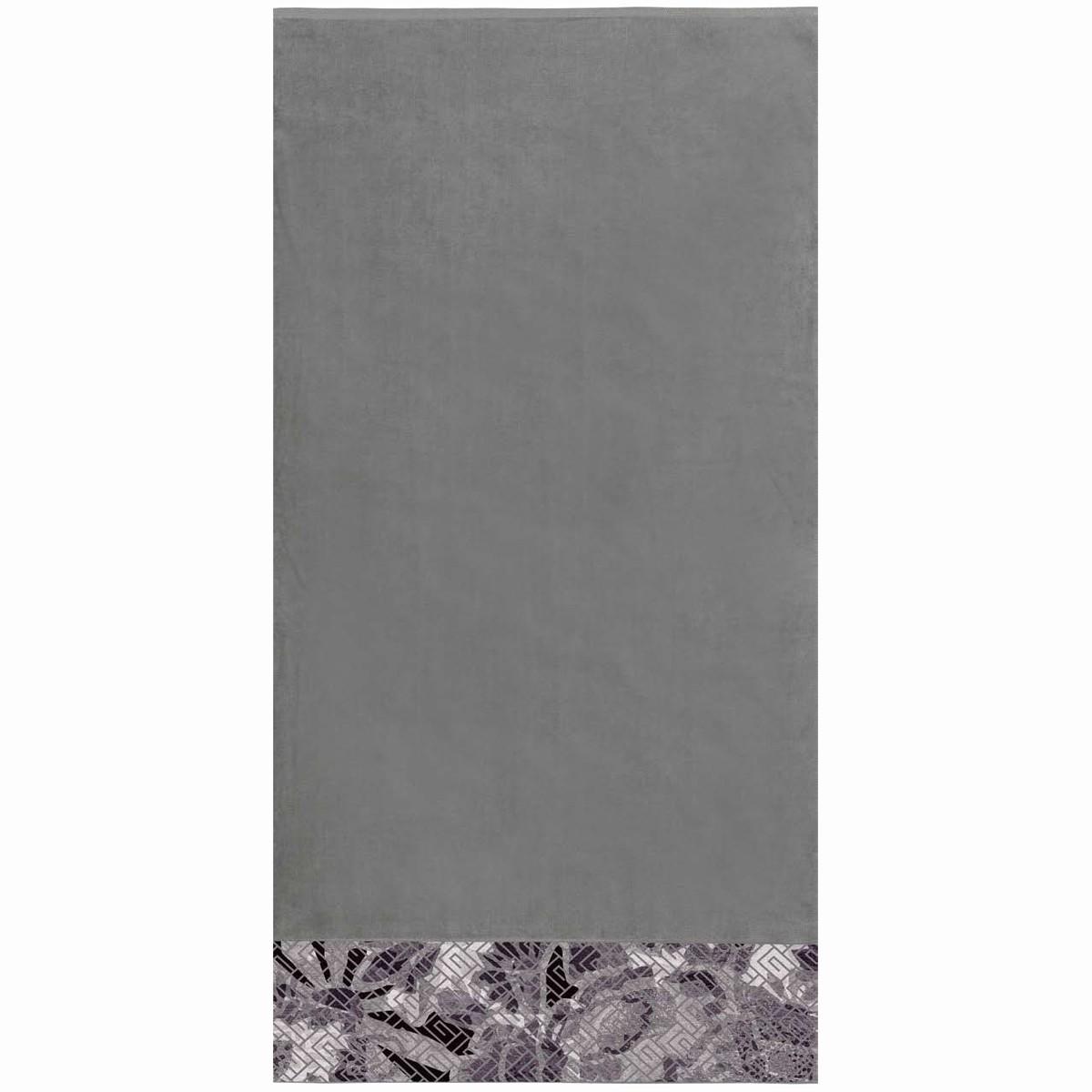 Πετσέτα Θαλάσσης Guy Laroche Jacquard Printed 3 Anthracite