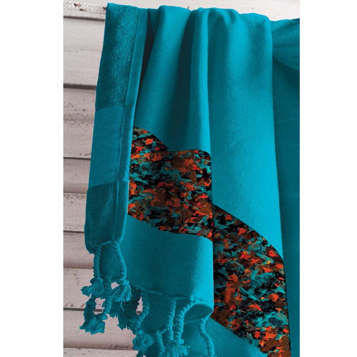 Πετσέτα Θαλάσσης - Παρεό Guy Laroche Pestemal 5 Petrol