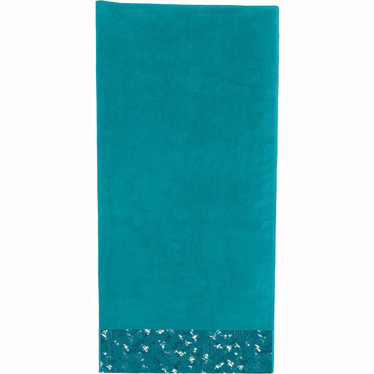 Πετσέτα Θαλάσσης Guy Laroche Jacquard Printed 5 Petrol
