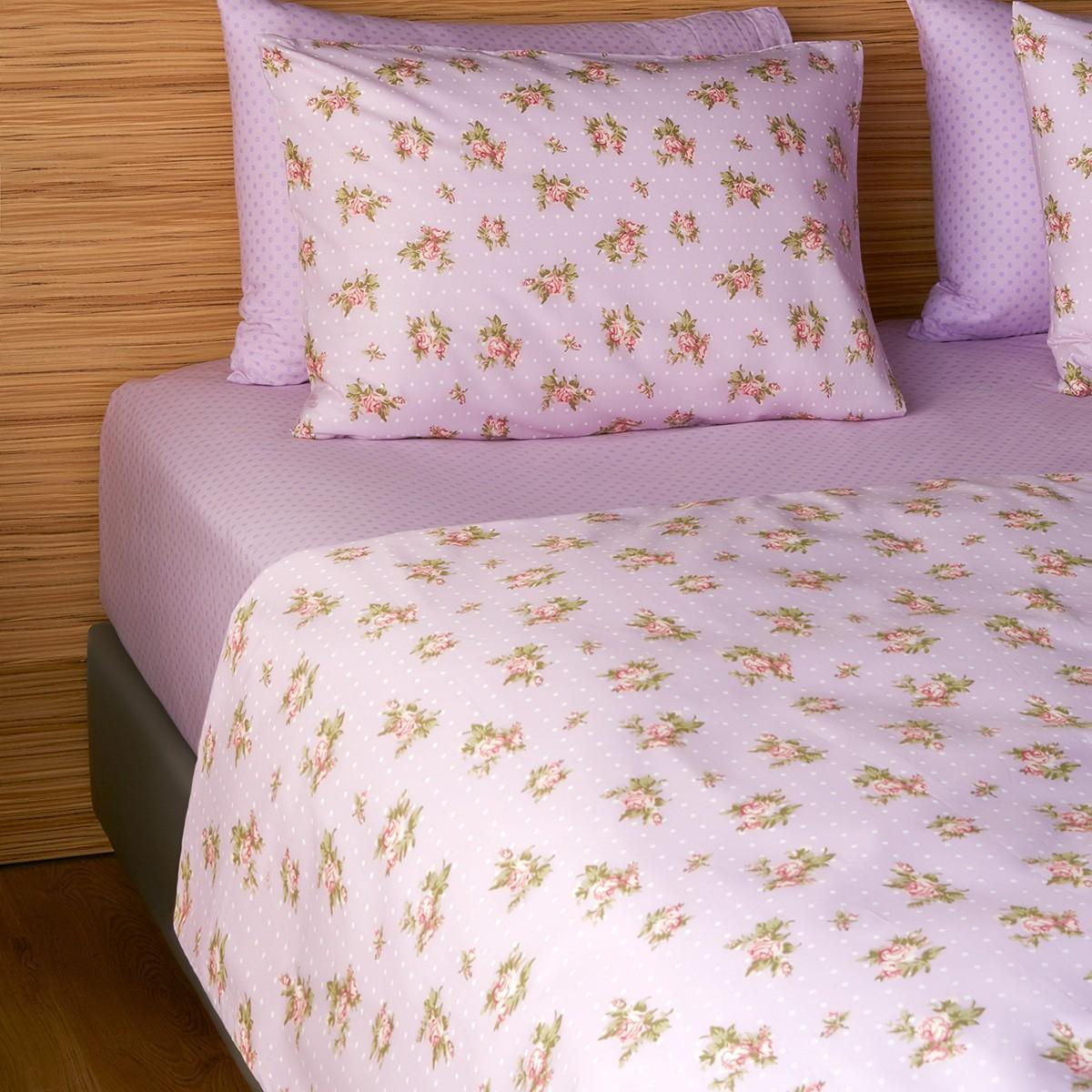 Σεντόνια Διπλά (Σετ) Melinen 12749 Lilac