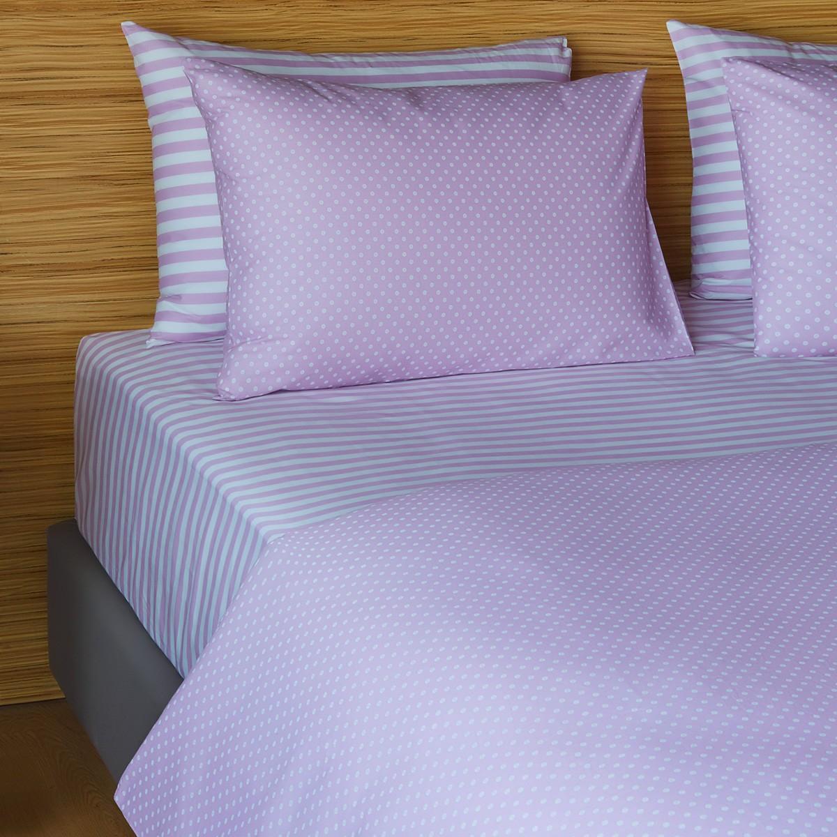 Σεντόνια Υπέρδιπλα (Σετ) Melinen 12532 Lilac