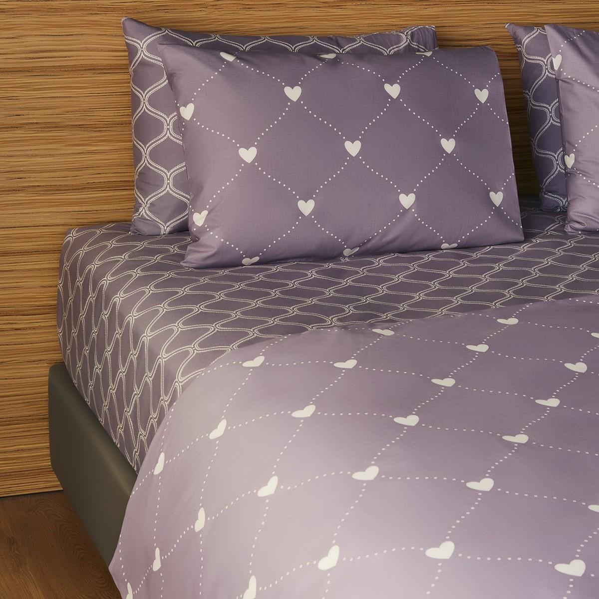 Σεντόνια Διπλά (Σετ) Melinen 12867 Purple
