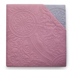 Κουβερλί Μονό Διπλή Όψης Melinen Rose/Grey