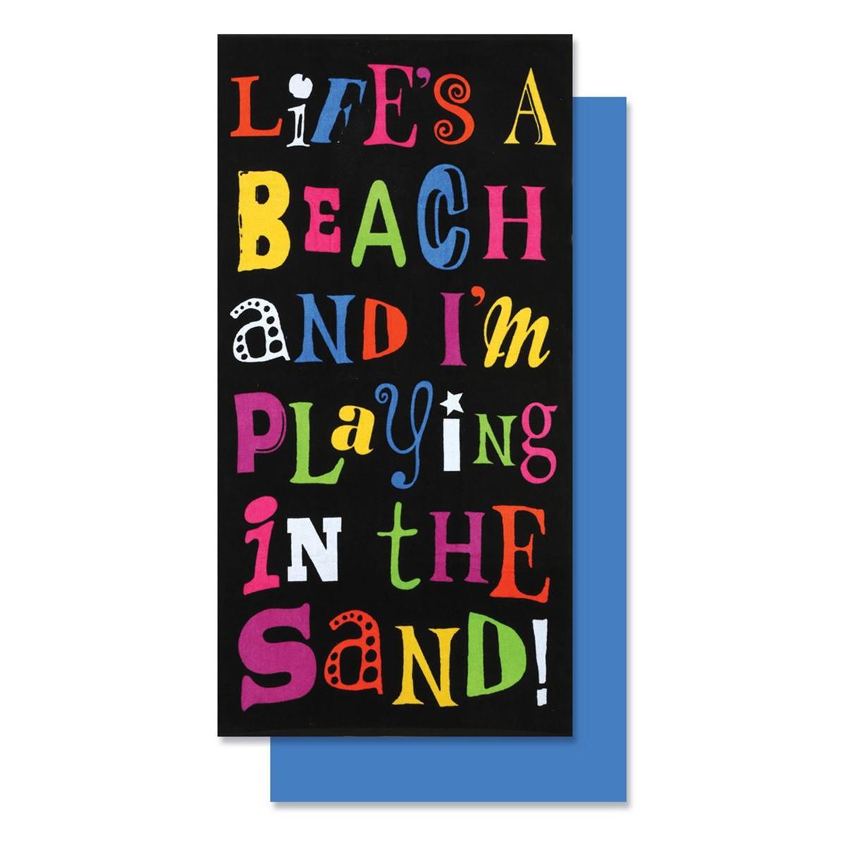 Πετσέτα Θαλάσσης Nef-Nef Life Is A Beach