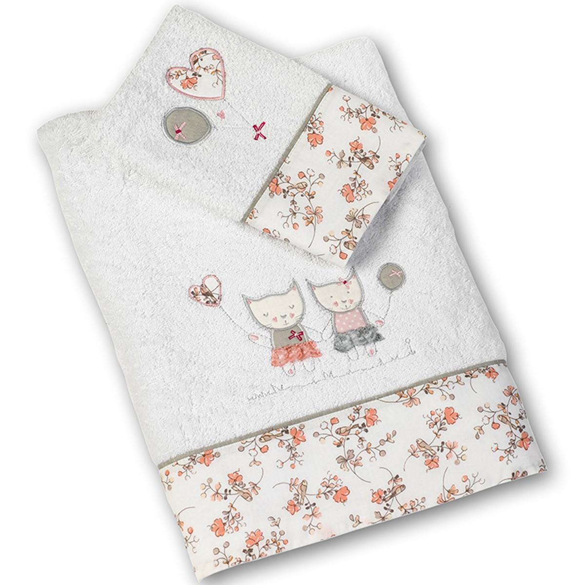 Βρεφικές Πετσέτες (Σετ 2τμχ) Nima Kitty Kittens