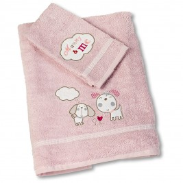 Βρεφικές Πετσέτες (Σετ 2τμχ) Nima Mummy&Me Pink