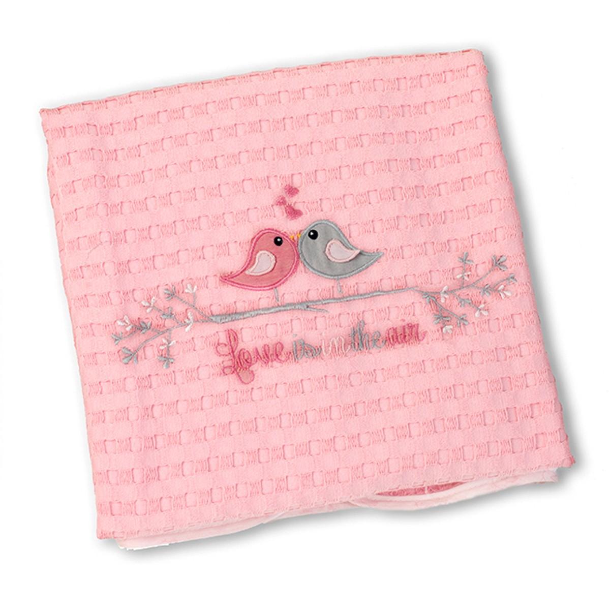 Κουβέρτα Πικέ Κούνιας Nima Love Birds
