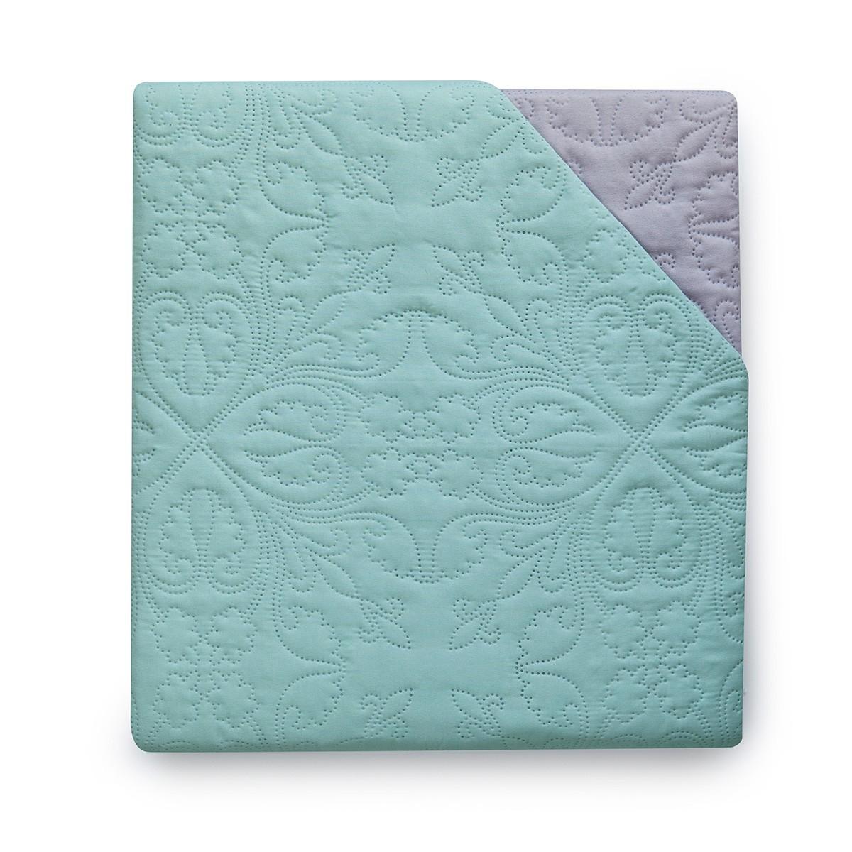 Κουβερλί Υπέρδιπλο Διπλής Όψης Melinen Aqua/Grey