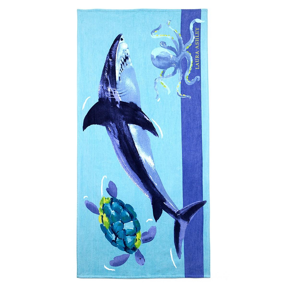 Παιδική Πετσέτα Θαλάσσης Laura Ashley Shark home   θαλάσσης   πετσέτες θαλάσσης παιδικές