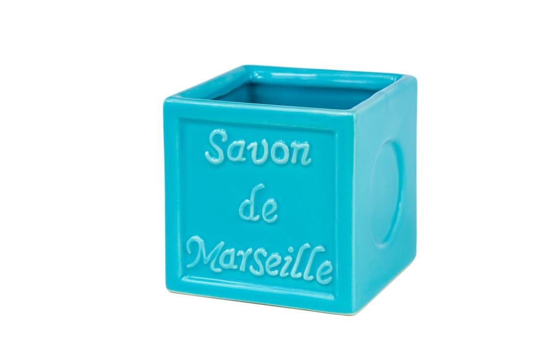 Ποτήρι Οδοντόβουρτσας Spirella SavonDeMarseille 02766 Turquoise home   μπάνιο   αξεσουάρ μπάνιου