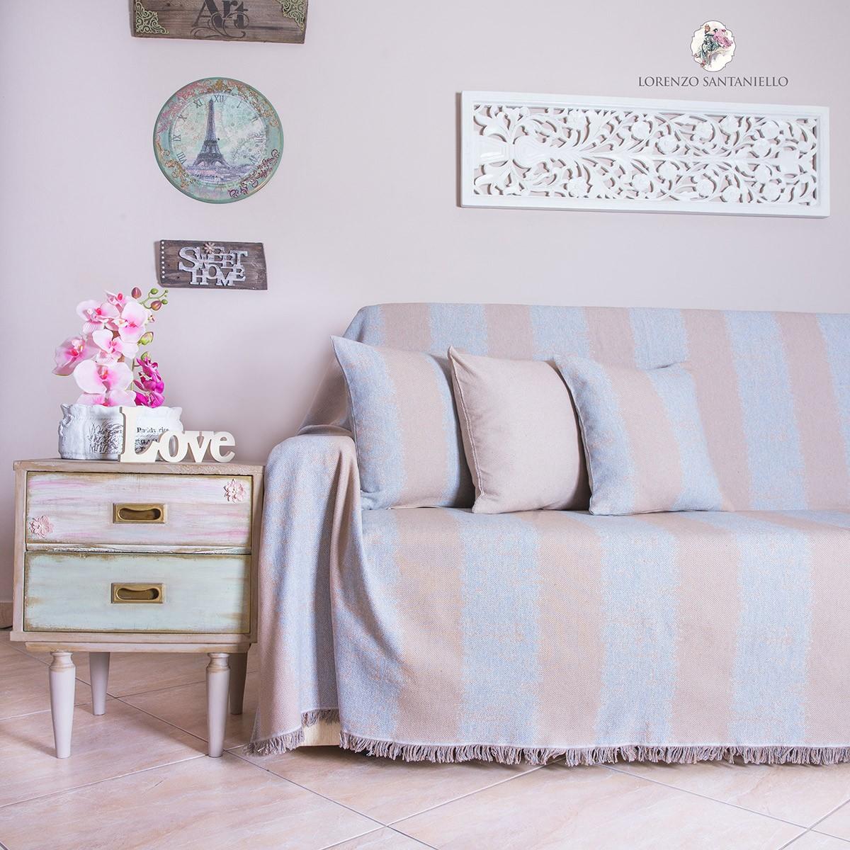 Διακοσμητική Μαξιλαροθήκη Lorenzo Santaniello Stripes L.Grey