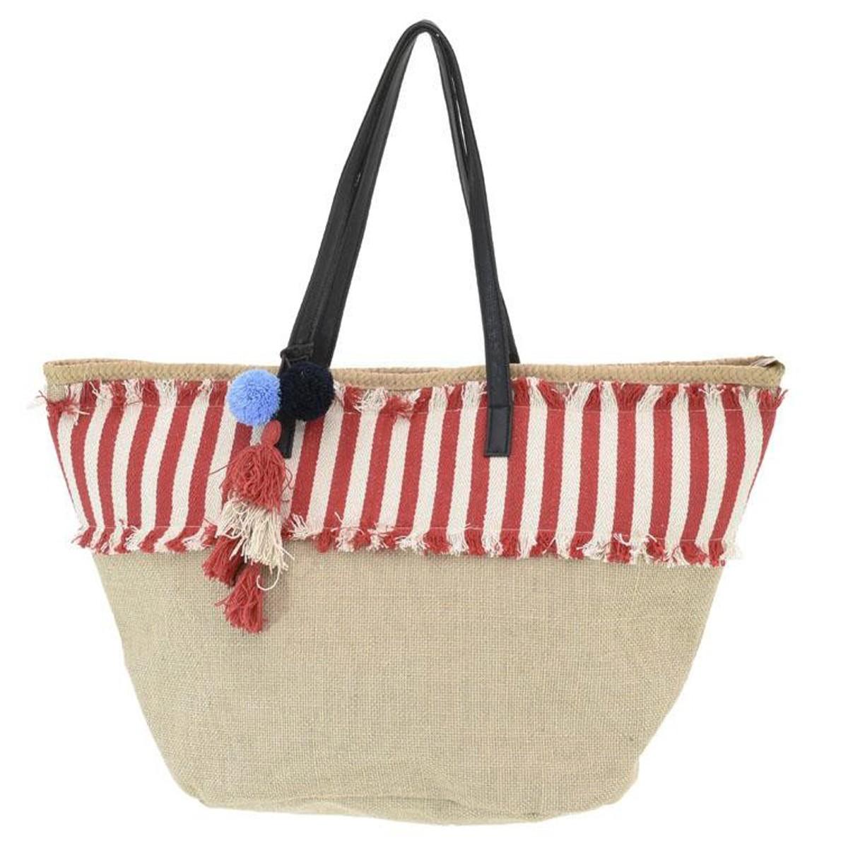 Ψάθινη Τσάντα Παραλίας InArt 5-42-367-0014