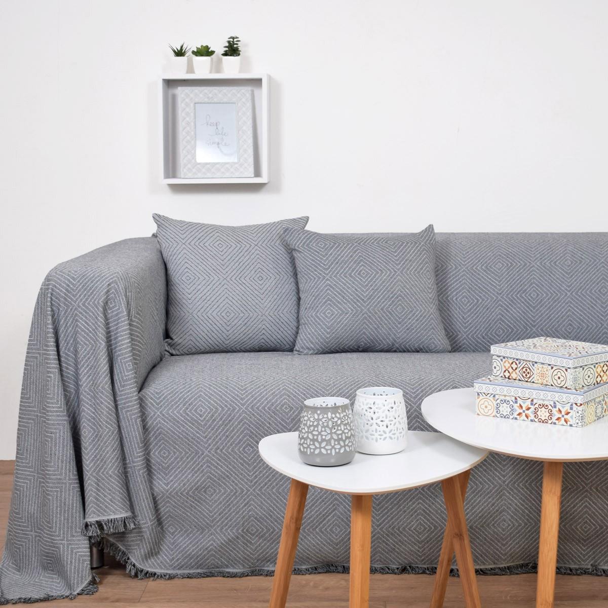 Ριχτάρι Τετραθέσιου (180x350) Ravelia Summer Umbra Grey