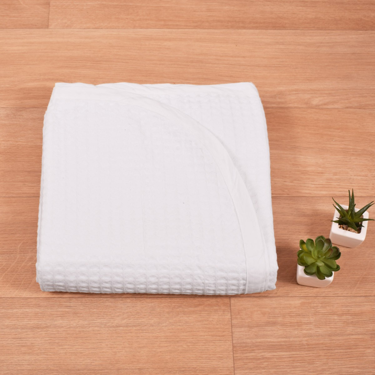 Κουβέρτα Πικέ (160×260) Λευκή 280gr/m2