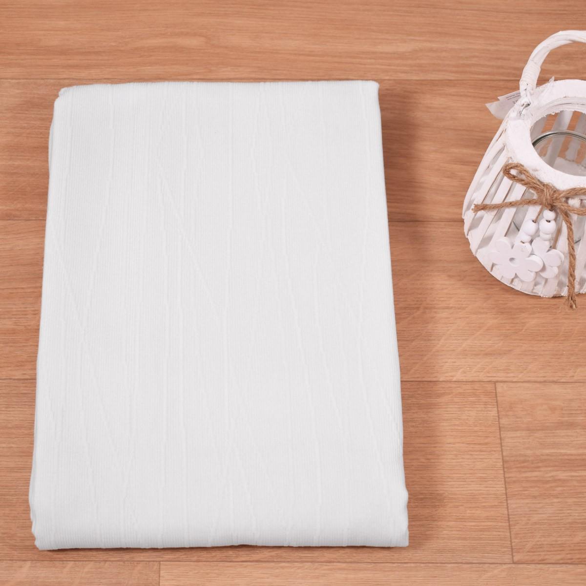 Κουβέρτα Ζακάρ Πικέ (170x260) Λευκή 400gr/m2