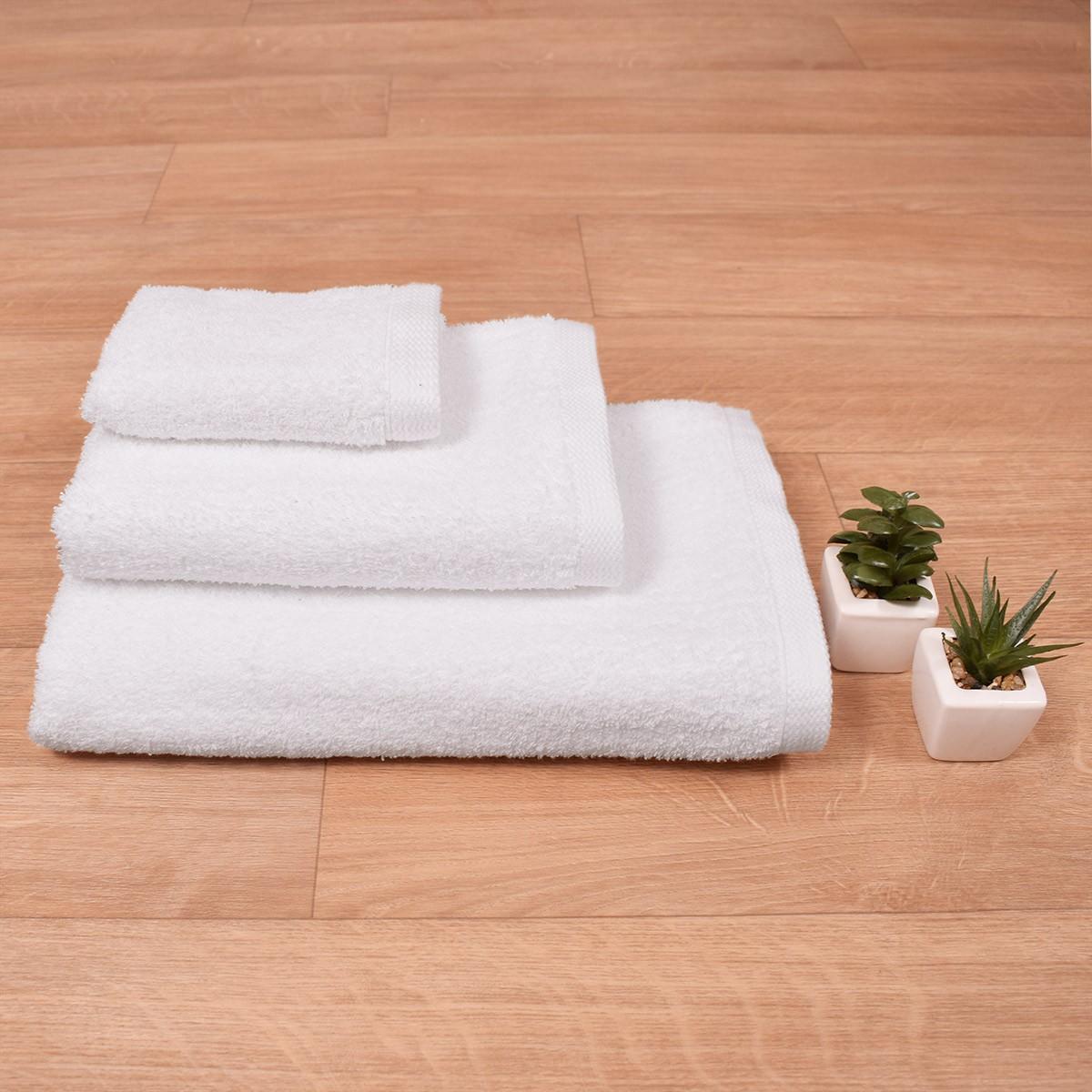 Πετσέτα Προσώπου Λευκή (50×90) Inter 500gr/m2 73671