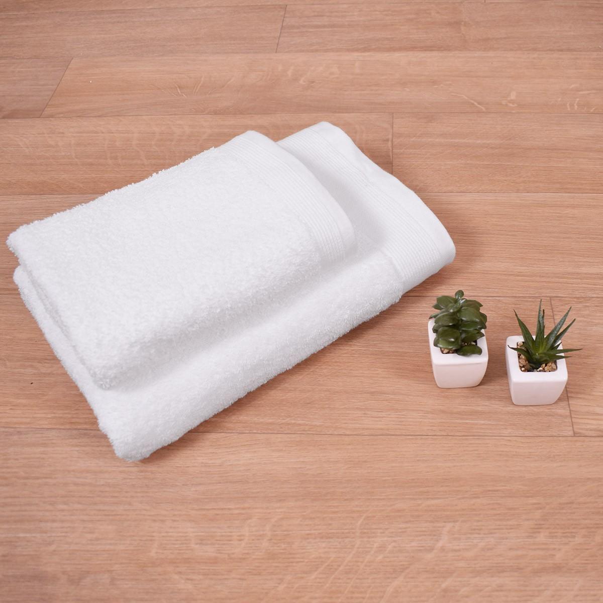 Πετσέτα Προσώπου Λευκή (50x100) Cleopatra 700gr/m2