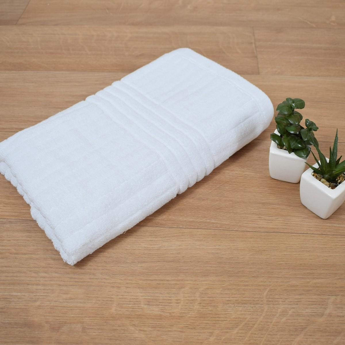 Πετσέτα Σώματος Λευκή (75x150) Κοτλέ 720gr/m2 home   επαγγελματικός εξοπλισμός   ξενοδοχειακός εξοπλισμός   πετσέτες ξενοδοχεί