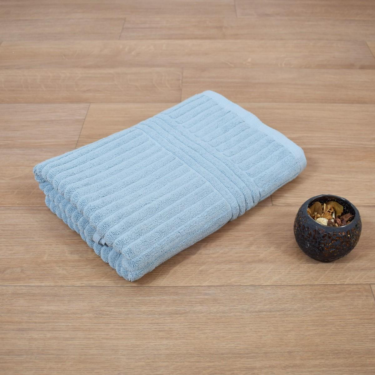 Πετσέτα Σώματος Γαλάζιο (75x150) Κοτλέ 720gr/m2