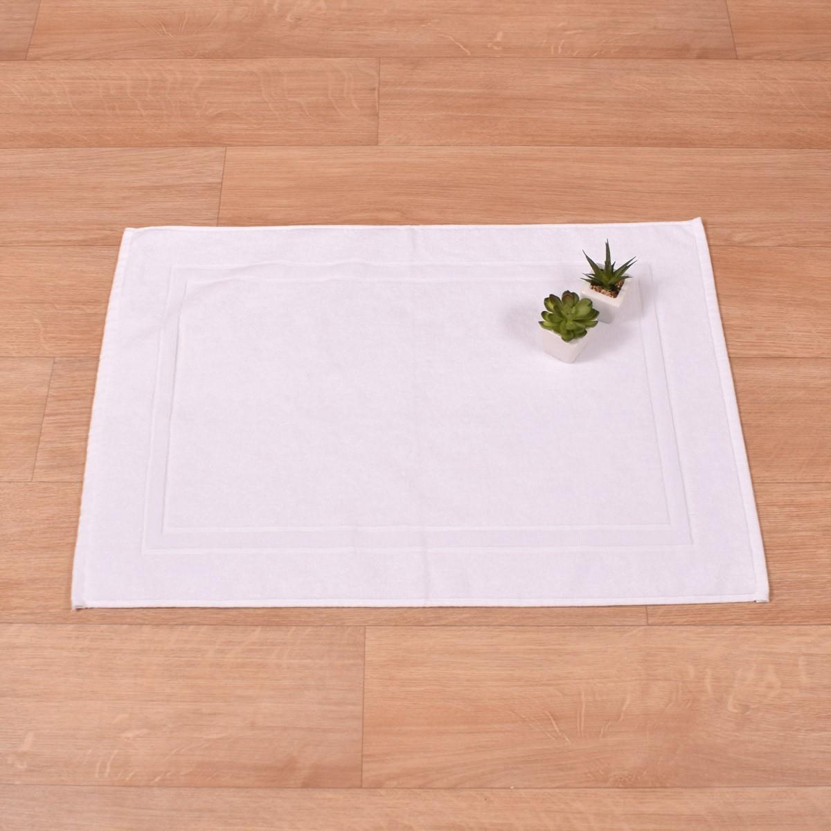 Πετσετέ Πατάκι Μπάνιου (50x75) Κορνίζα Λευκό 700gr/m2