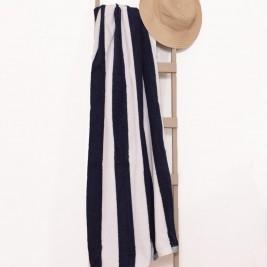 Πετσέτα Πισίνας (85x180) Ριγέ Μπλε-Λευκό