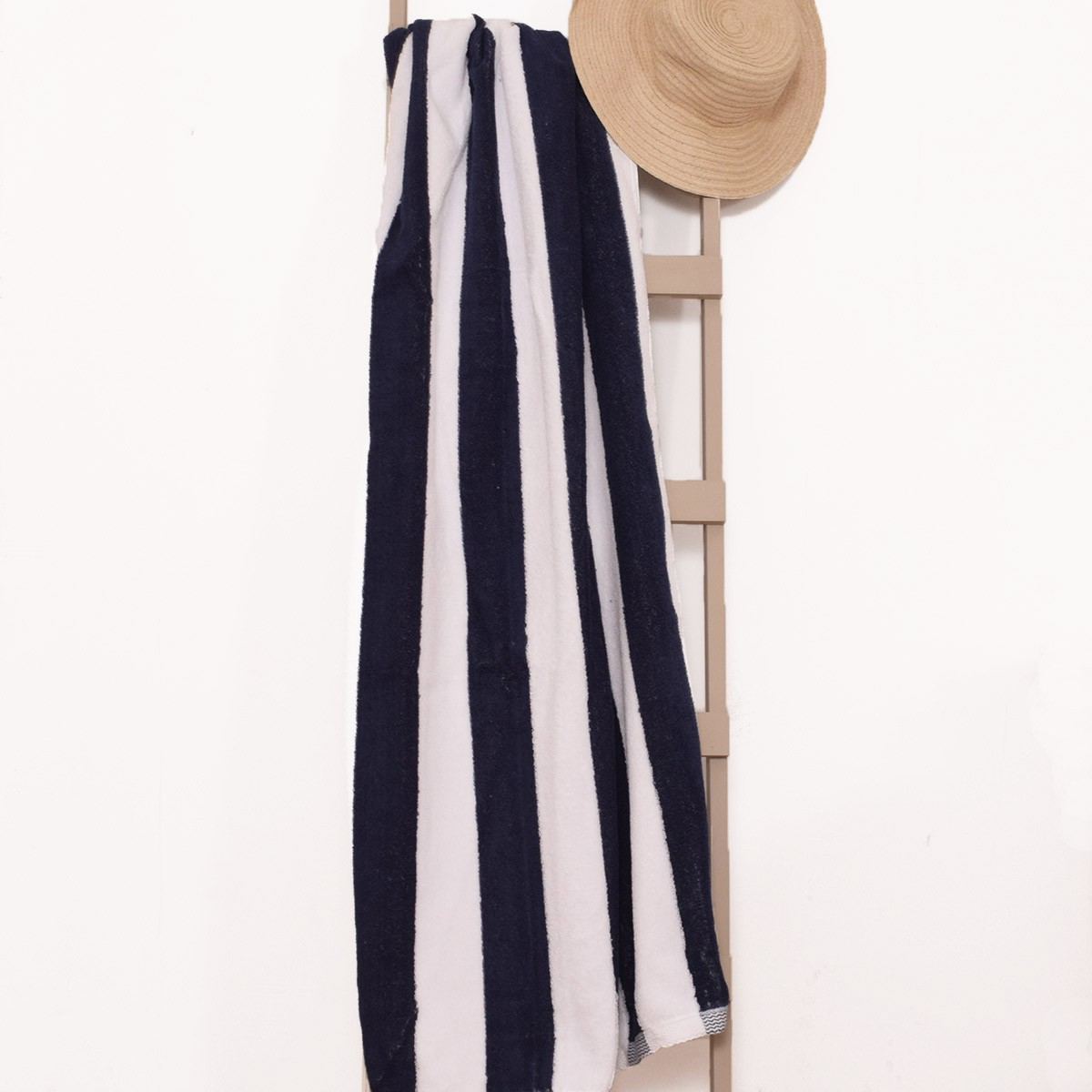 Πετσέτα Πισίνας (85x180) Ριγέ Μπλε-Λευκό home   επαγγελματικός εξοπλισμός   ξενοδοχειακός εξοπλισμός   πετσέτες ξενοδοχεί