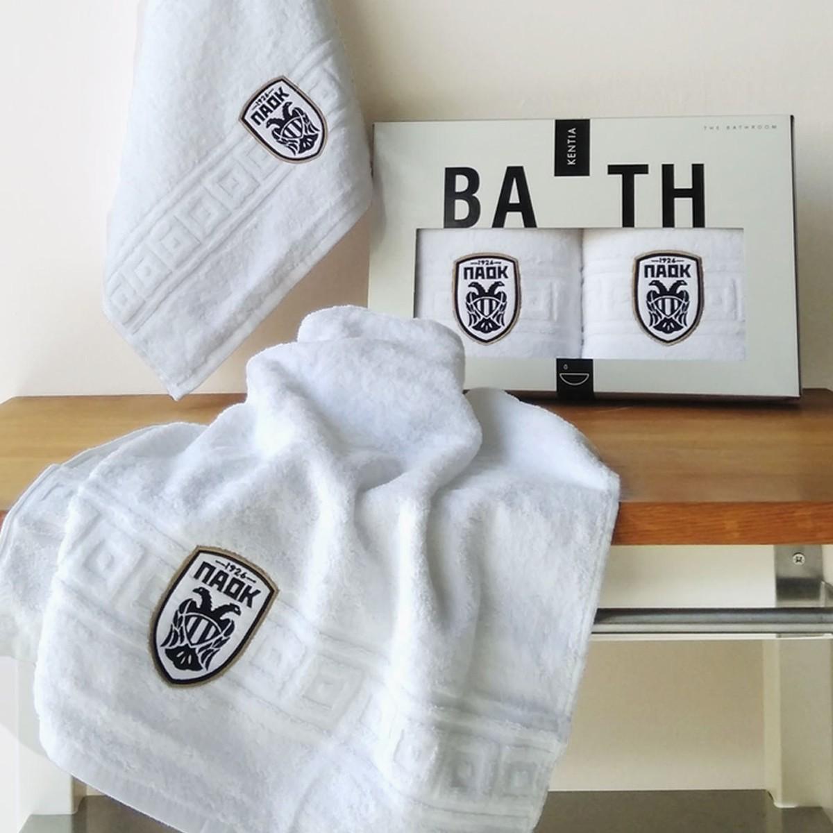 Πετσέτες Προσώπου (Σετ 2τμχ) Kentia Paok