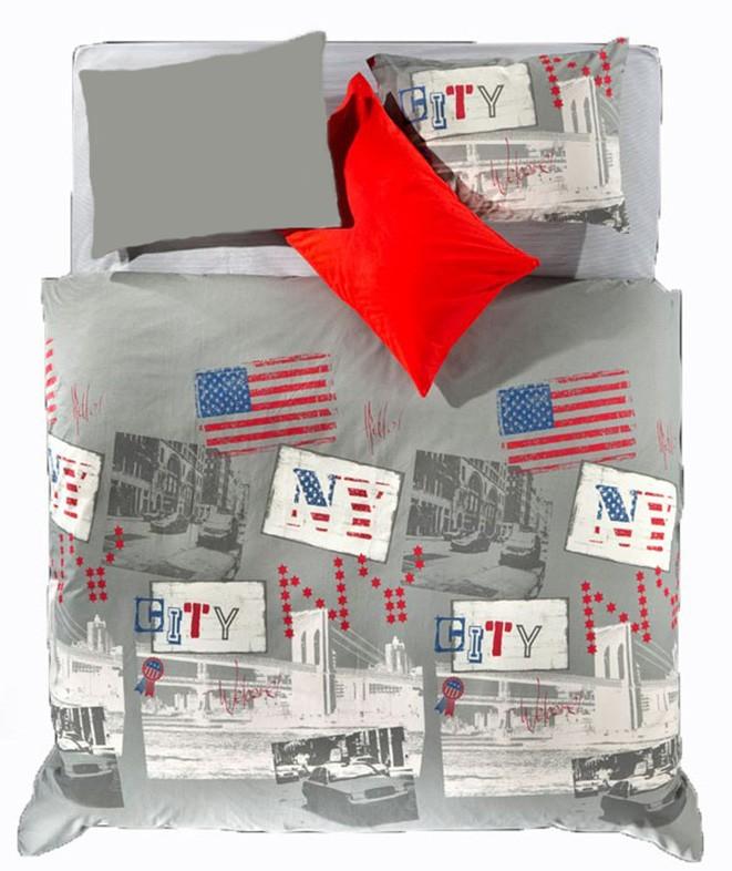 Παπλωματοθήκη Υπέρδιπλη (Σετ) Nima Cotton 'N Style New York 02