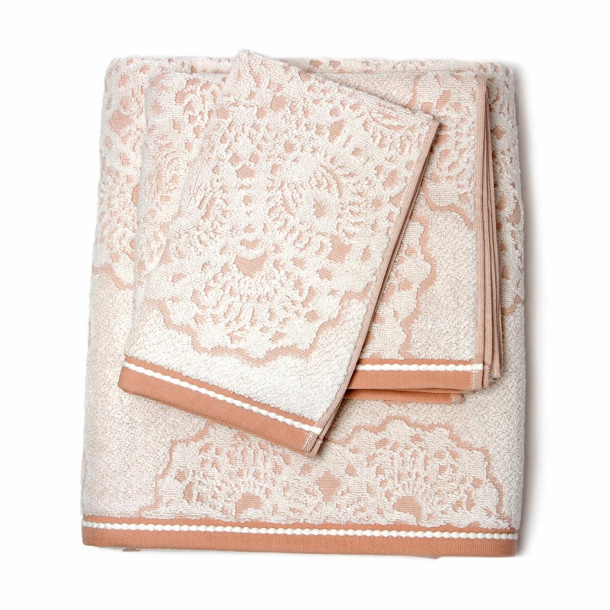 Πετσέτα Προσώπου (50x90) Laura Ashley Scroll Pink home   μπάνιο   πετσέτες μπάνιου