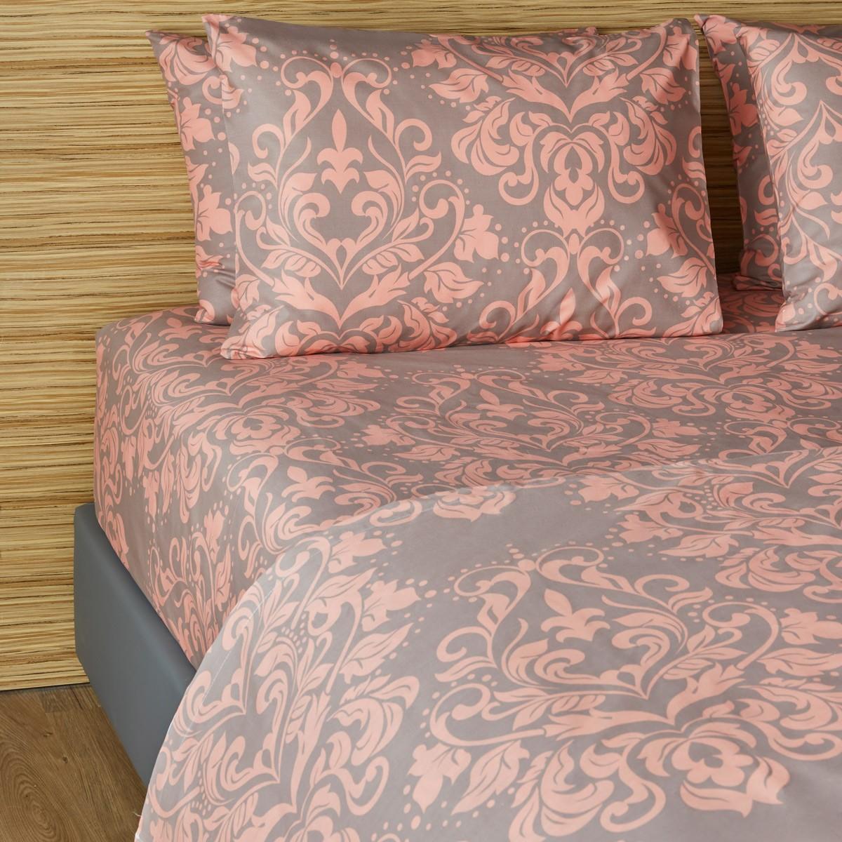 Σεντόνια Διπλά (Σετ) Melinen 12866 Coral home   κρεβατοκάμαρα   σεντόνια   σεντόνια ημίδιπλα   διπλά