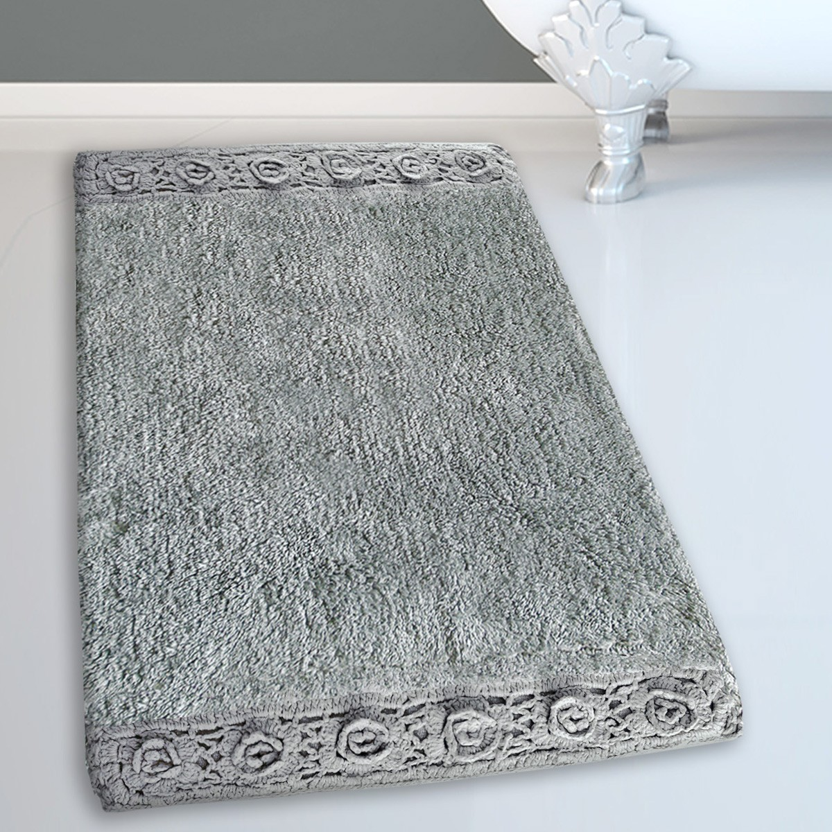 Πατάκι Μπάνιου (50×80) San Lorentzo 925 Double Lace Grey