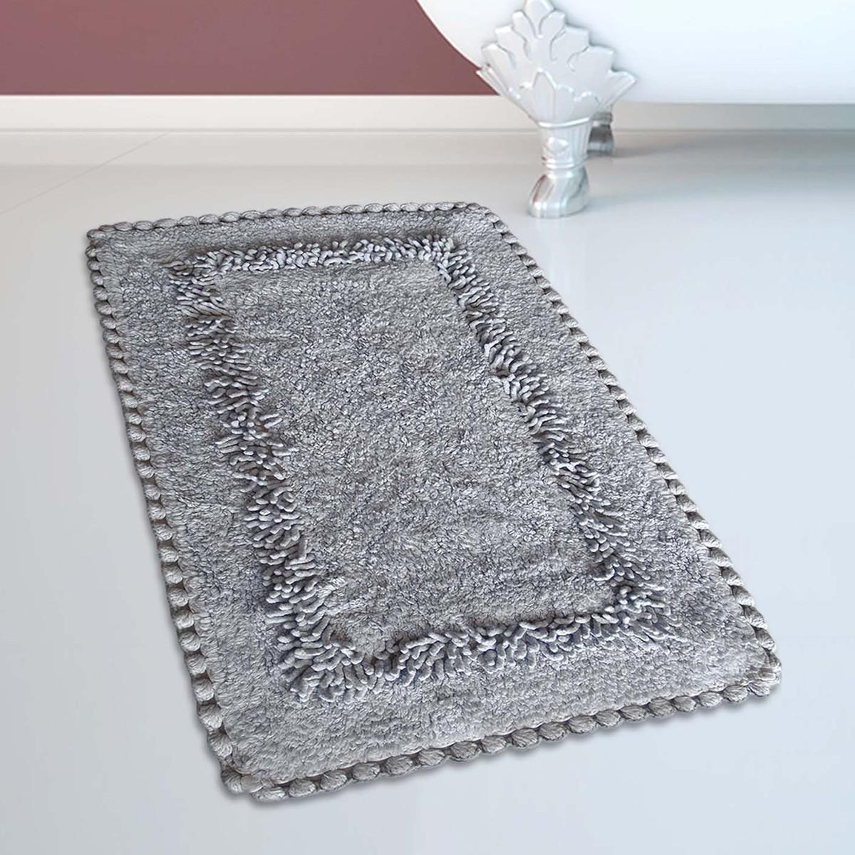 Πατάκι Μπάνιου (50×80) San Lorentzo 923 Crochet Grey