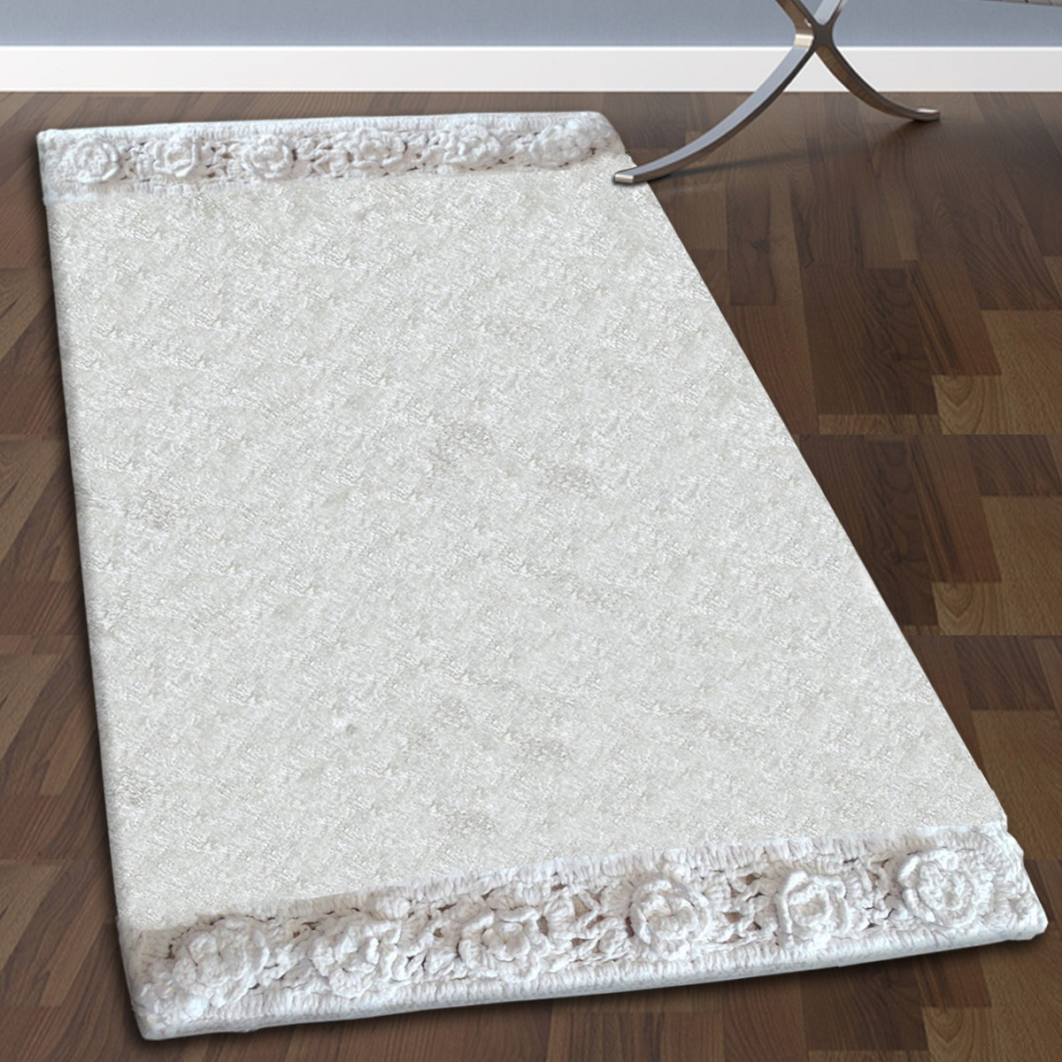 Πατάκι Μπάνιου (50×80) San Lorentzo 925 Double Lace White