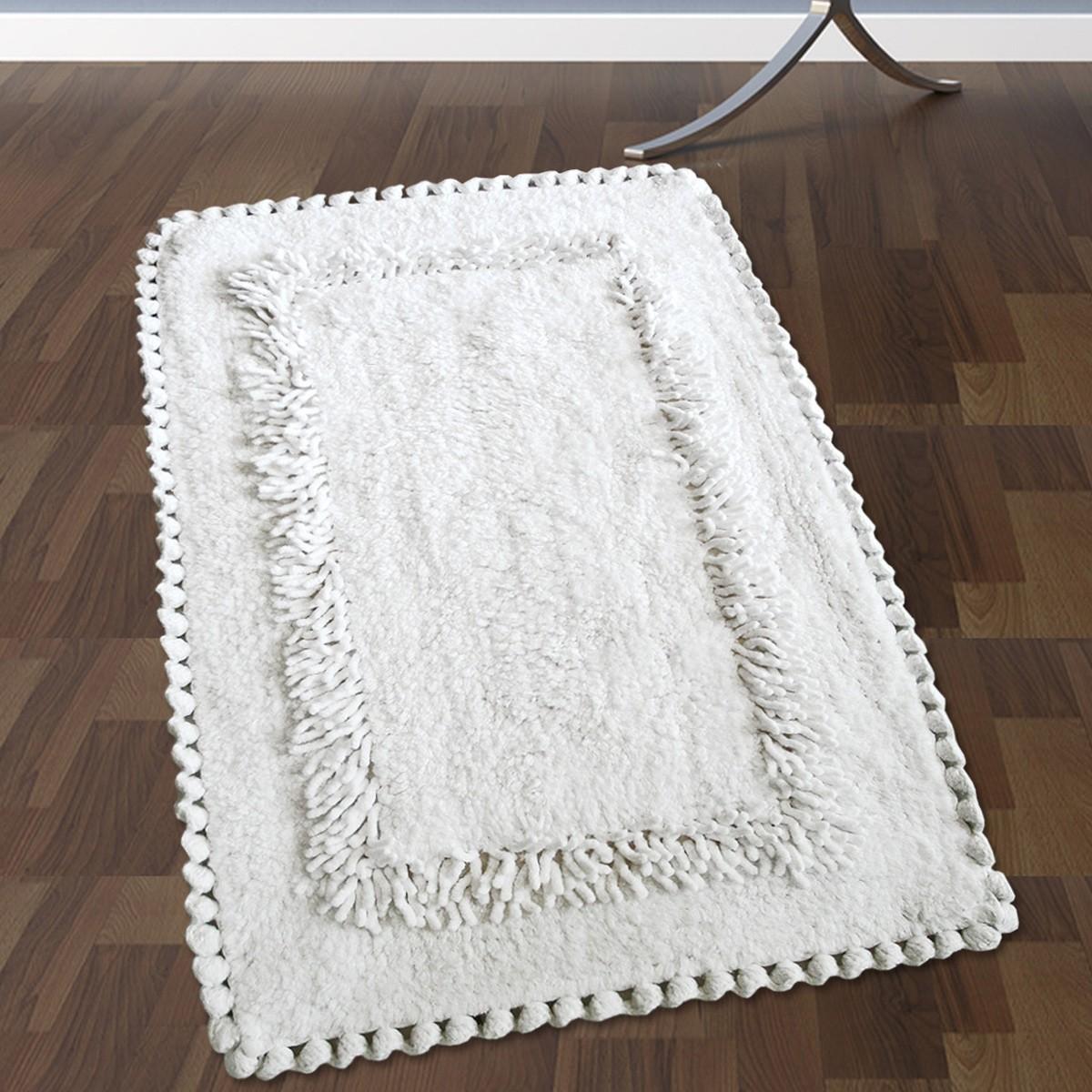Πατάκι Μπάνιου (50×80) San Lorentzo 923 Crochet White