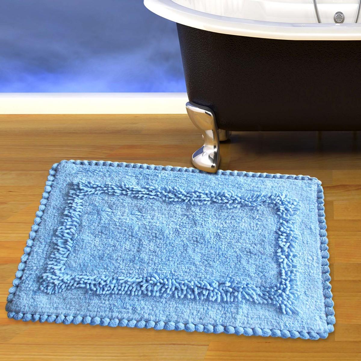 Πατάκι Μπάνιου (50x80) San Lorentzo 923 Crochet Blue