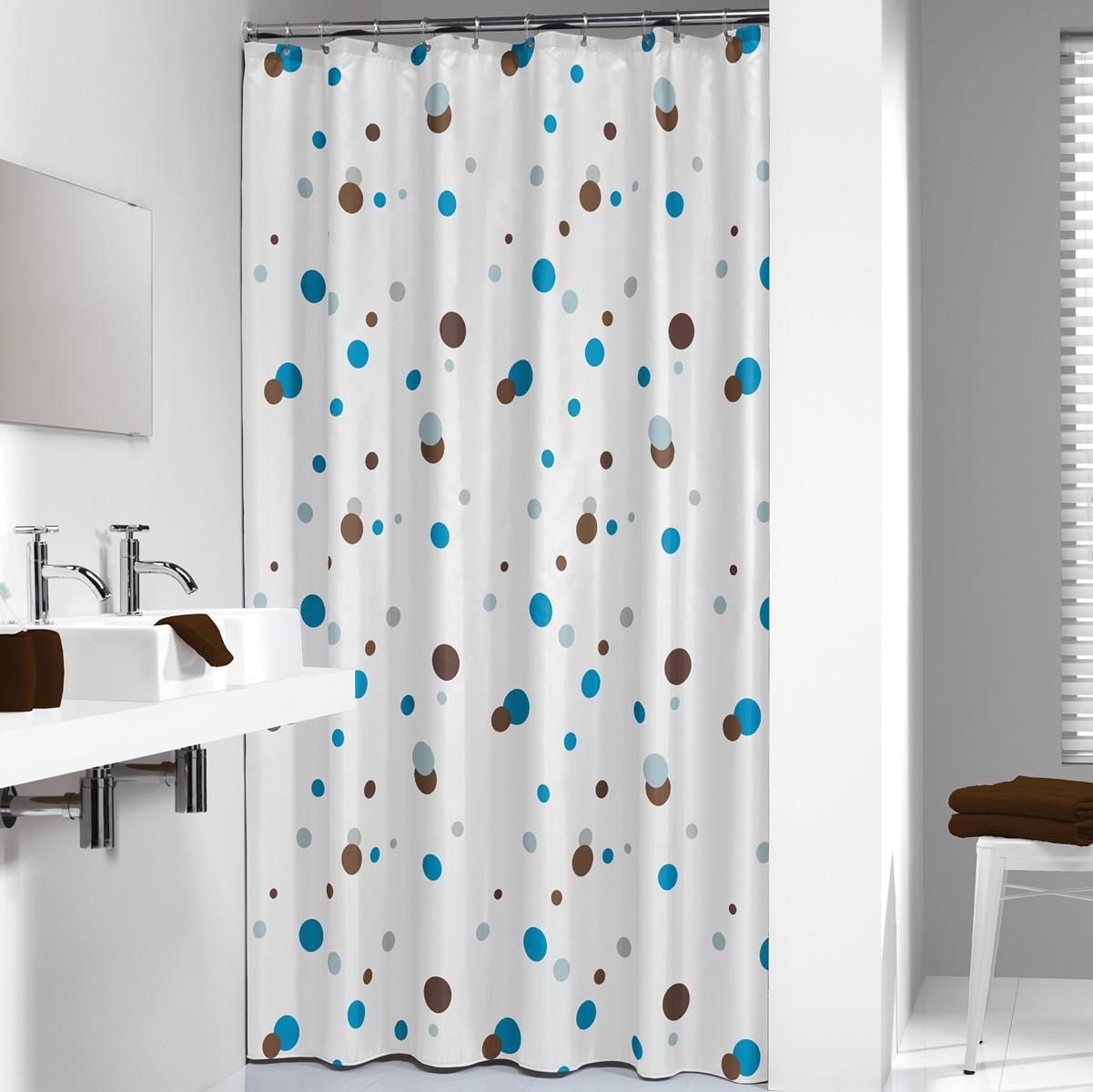 Κουρτίνα Μπάνιου (180×200) SealSkin Dots Blue