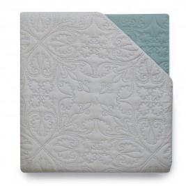 Κουβερλί Μονό Διπλής Όψης Melinen Grey/Silver Blue